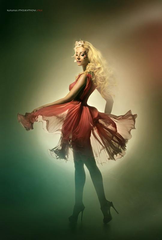 Light dress | dress, green light, model agency
