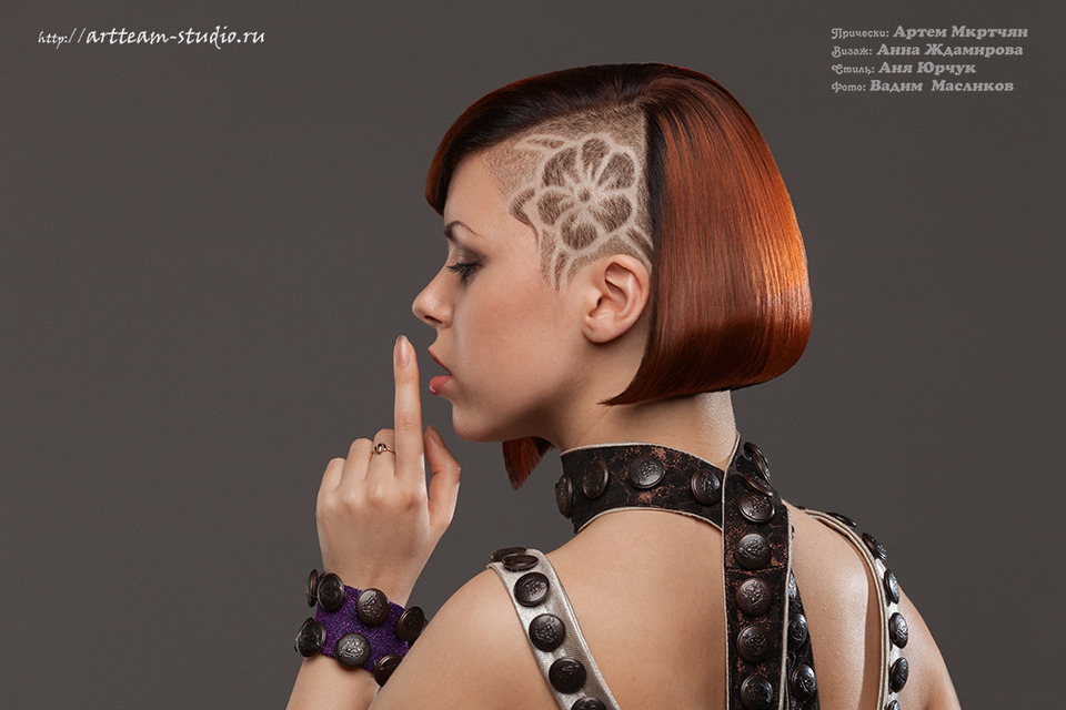 Girl with mohawk | mohawk, leather clothing, fancy hair-do