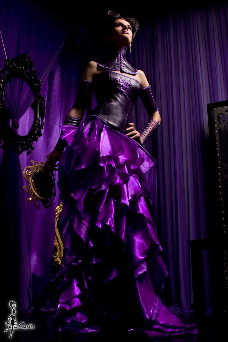 Start wearing purple | purple gown, night club, purple curtain