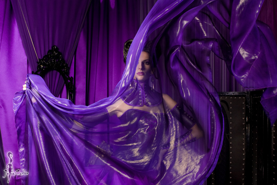 All is purple | purple dress, purple curtain, pretty girl, glamour