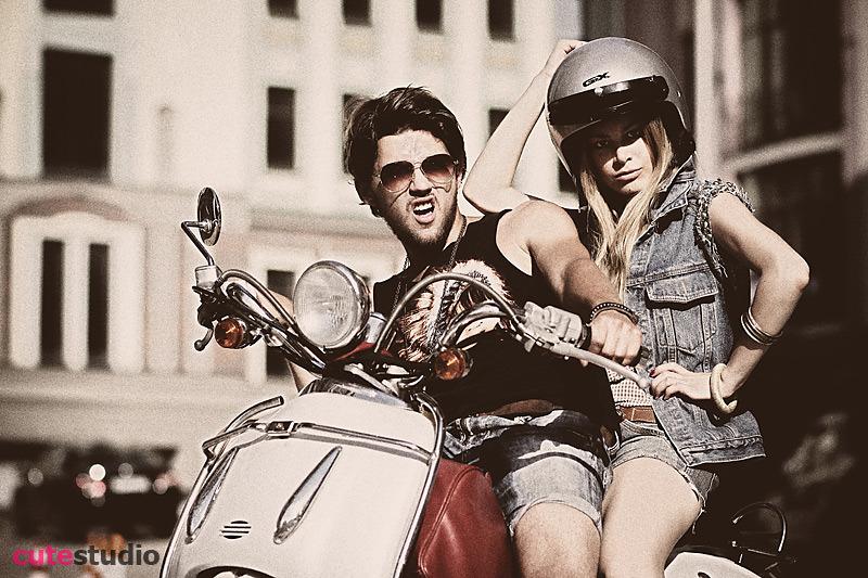 Bikers | bike, rocker, jeans clothing, street