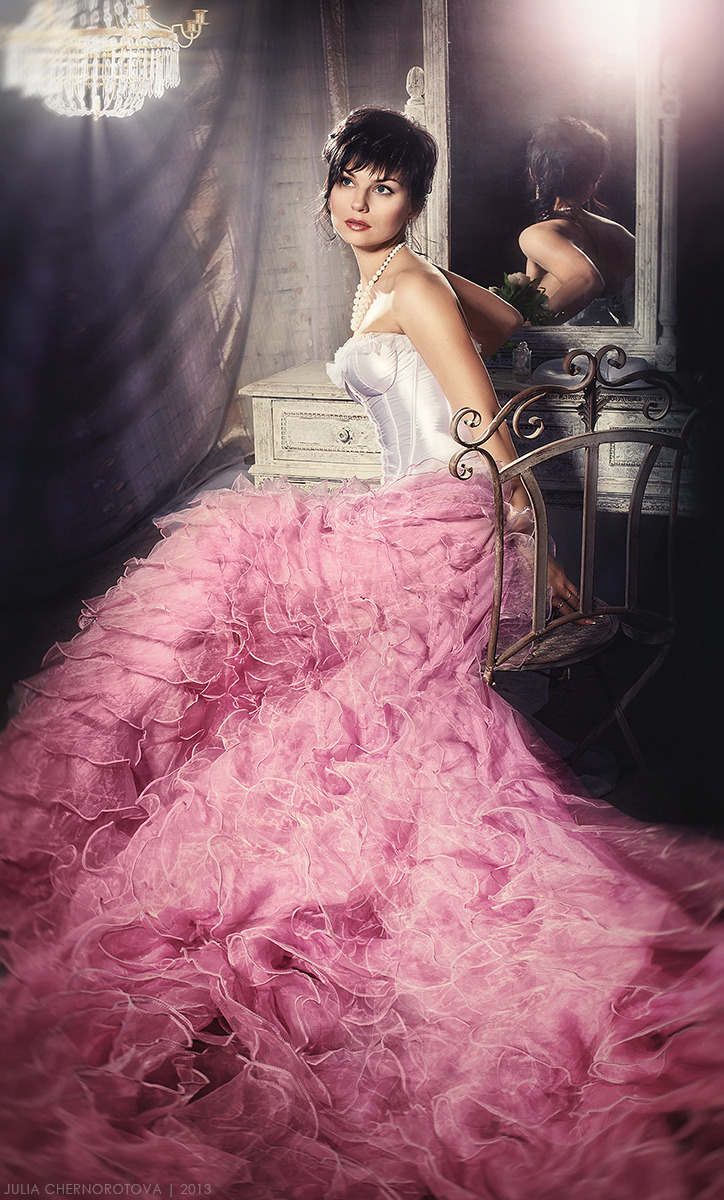 Huge skirt   huge skirt, pink and white dress, cutie, reflection