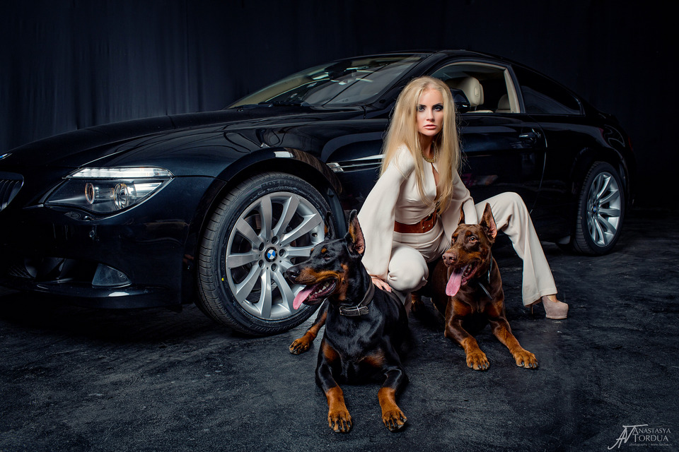 Anna | model, dog, car, photo shoot