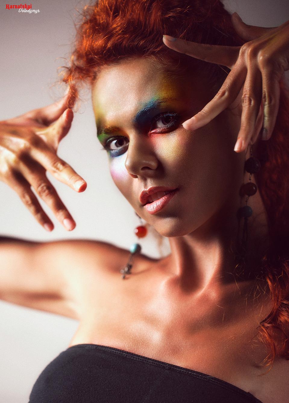 Tanned Ksenya | tan, girl, model, make-up