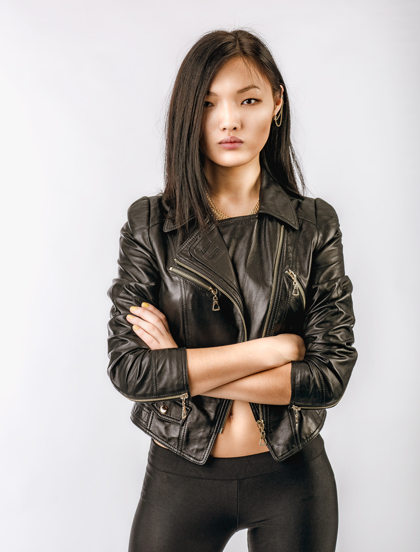 Chinese girl | photo shoot, chibese girl, leather, room