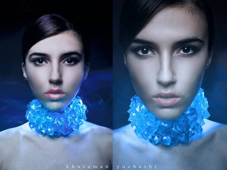 2in1 | blue, necklace, girl, glamour