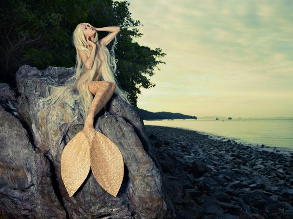 mermaid   blonde mermaid