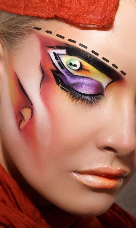 Beautiful body art | body art, pink lipstick, blonde